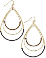 INC International Concepts Gold-Tone Thread-Wrapped Earrings, Only at Macy's