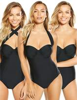 Very Controlwear Multi-way Underwired Swimsuit - Black