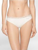 Calvin Klein Womens Invisibles + Lace Thong Underwear