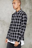 Forever 21 FOREVER 21+ Fitted Plaid Flannel Shirt