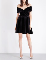 Emilio De La Morena Off-the-shoulder stretch-velvet dress