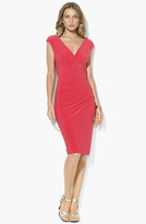 Lauren Ralph Lauren Faux Wrap Jersey Dress