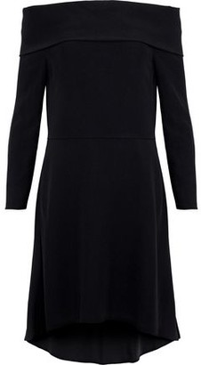 Theory Kensington Off-the-shoulder Crepe Mini Dress