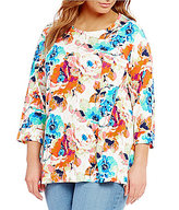 Westbound Plus 3/4 Sleeve Single Pocket Tunic