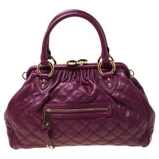 Marc Jacobs Stam Purple Leather Handbags