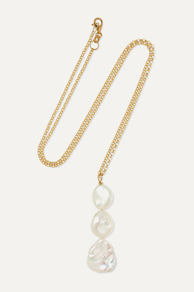 NATASHA SCHWEITZER Jane 9-karat Gold Pearl Necklace