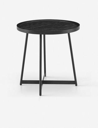 Lulu & Georgia Gweneth Side Table, Black Ash