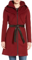Soia & Kyo 'Arya' Hooded Wool Blend Coat with Belt
