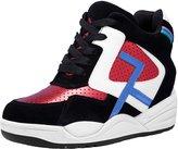 D2C Beauty Women's Color-Block Wedge Sneaker Booties - Pink 8 M US