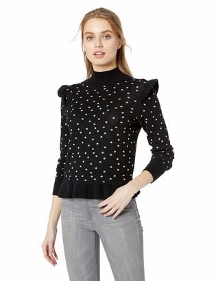 Parker Women's Marlee Long Sleeve Mock Turtleneck Ruffle Sweater