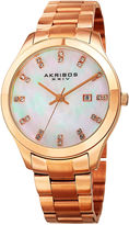 Akribos XXIV Womens Rose Goldtone Bracelet Watch-A-954rg