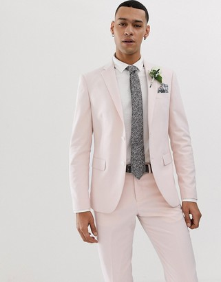 Lindbergh wedding suit jacket in light pink