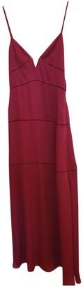 Non Signã© / Unsigned Burgundy Silk Dresses