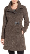 Via Spiga Tweed Funnel Neck Coat