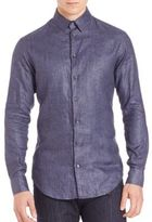Giorgio Armani Linen Button-Down Shirt