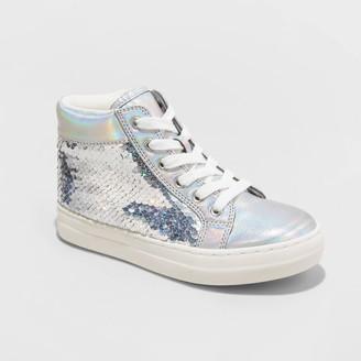 Cat & Jack Girls' Pavla Flip Sequin Sneakers - Cat & JackTM
