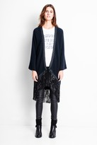Zadig & Voltaire Clark Cashmere Leather Deluxe Cardigan