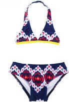 Oscar De La Renta Kids floral print bikini
