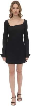 Coperni Asymmetric Cotton Crepe Mini Dress