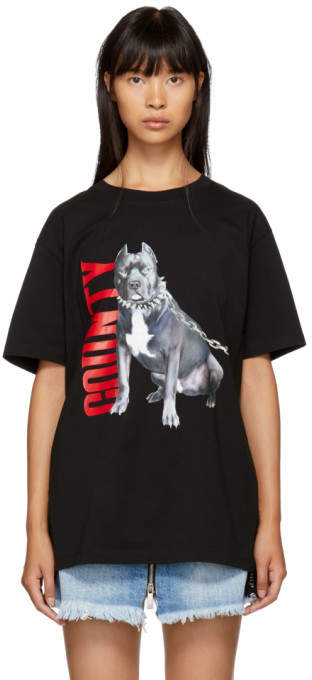 Marcelo Burlon County of Milan Black Dogo T-Shirt