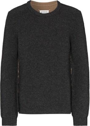 Maison Margiela Two-Tone Wool Jumper