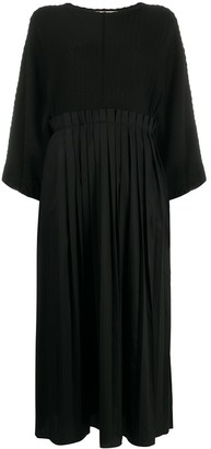 Maison Flaneur Pleated Oversized Dress