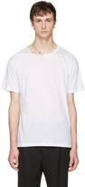 Valentino White Pin Necklace Punk T-shirt