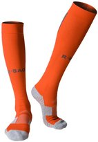 Huathy Women Men's Professional Compression Football Socks Cushioned Graduated Support Calf Stockings
