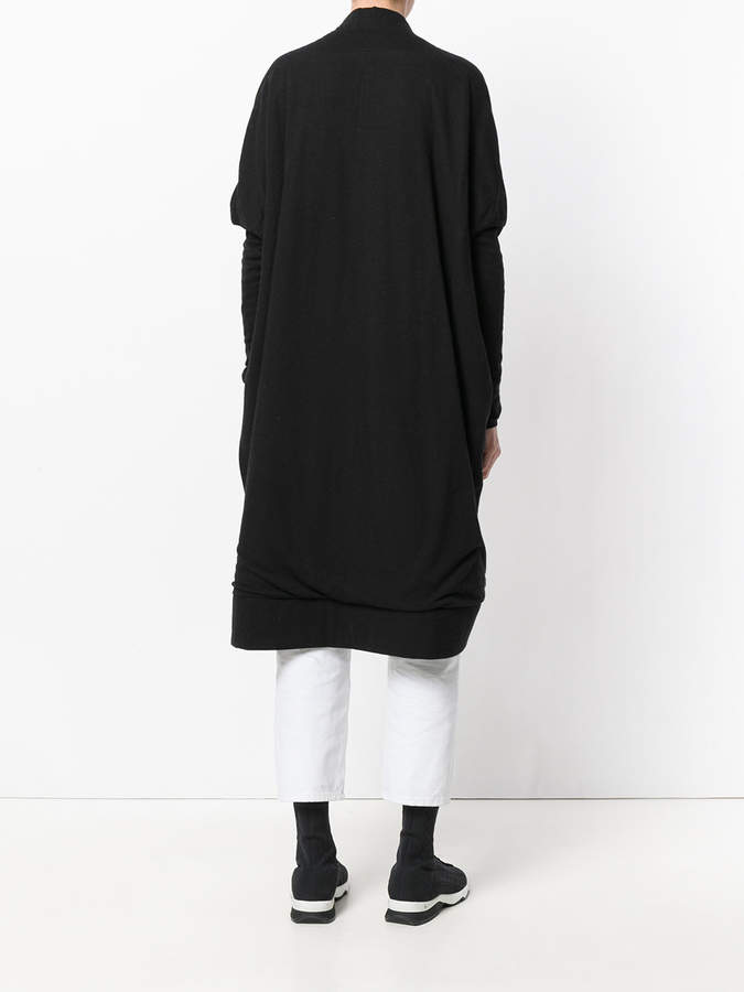 Rick Owens Lilies fitted sleeves oversized coat