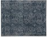 Pottery Barn Bosworth Printed Wool Rug - Blue
