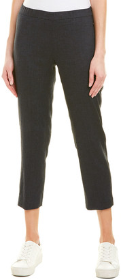 Theory Basic Linen-Blend Pull-On Pant