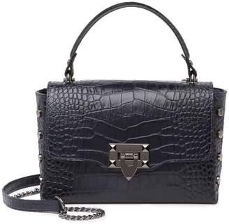 Persaman New York Annelise Croc-Embossed Leather Satchel