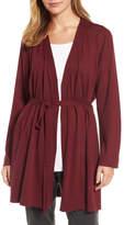 Eileen Fisher Tie Waist Tencel(R) Blend Cardigan (Regular & Petite)