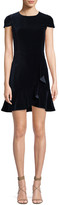 Alice + Olivia Enid Ruffle-Front Fit Flare Dress