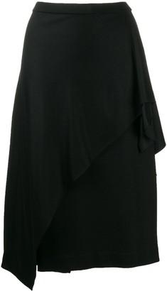 Dvf Diane Von Furstenberg Asymmetric Drape Midi Skirt
