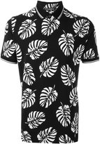 Dolce & Gabbana palm tree print polo shirt