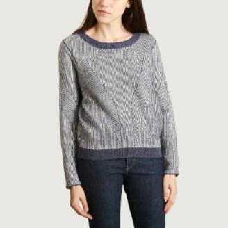 Suncoo Night Blue Polyester Pagan Sweater - 0 | polyester | night blue - Night blue