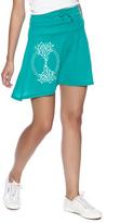 Soul Flower Turquoise Tree Skirt