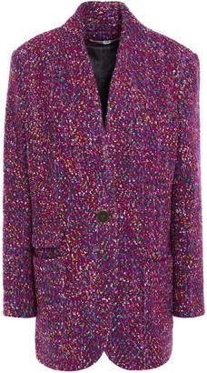 Veronica Beard Crispin Metallic Wool-blend Boucle Coat