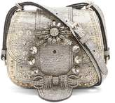 Miu Miu Dahlia embellished leather cross-body bag