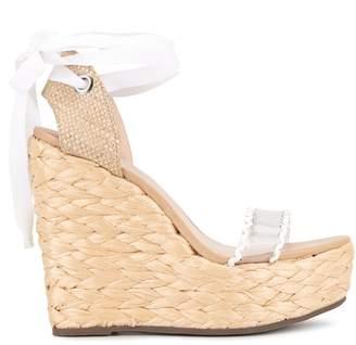 Schutz PVC strap espadrille sandals