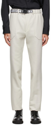 Fendi Off-White Belted Trousers