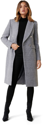 Forever New Katie DB Check Coat Two
