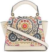 Zac Posen floral embossed patterned mini bag