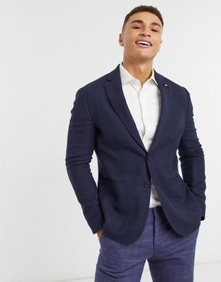 Tommy Hilfiger structured slim fit blazer