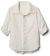 Gap Linen-blend convertible shirt