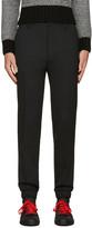 Kenzo Black Slim Wool Trousers