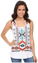 Scully Mariana Embroidered Tank Top