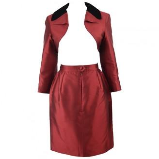 Christian Lacroix Red Silk Skirt for Women Vintage