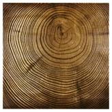 Nobrand No Brand Wood Grain Metallic Canvas - Bronze